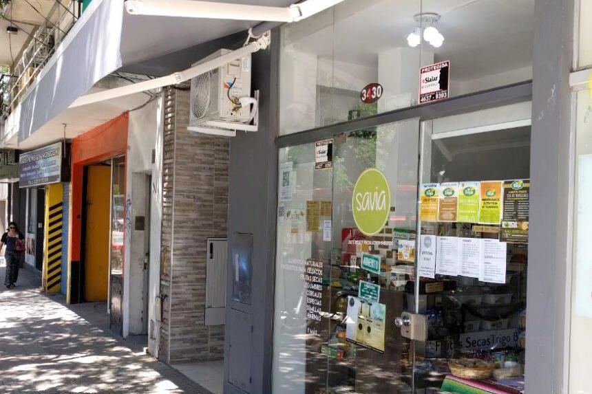 Proyecto Savia Dietética - Toldo de Brazos Invisibles + Cortinas Roller Black Out