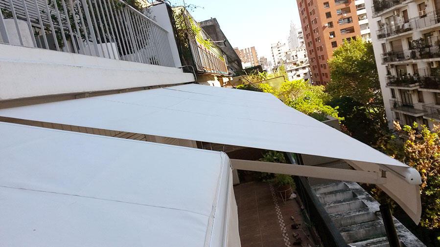Toldo Brazos Invisibles Belgrano, Fabricación e Instalación.