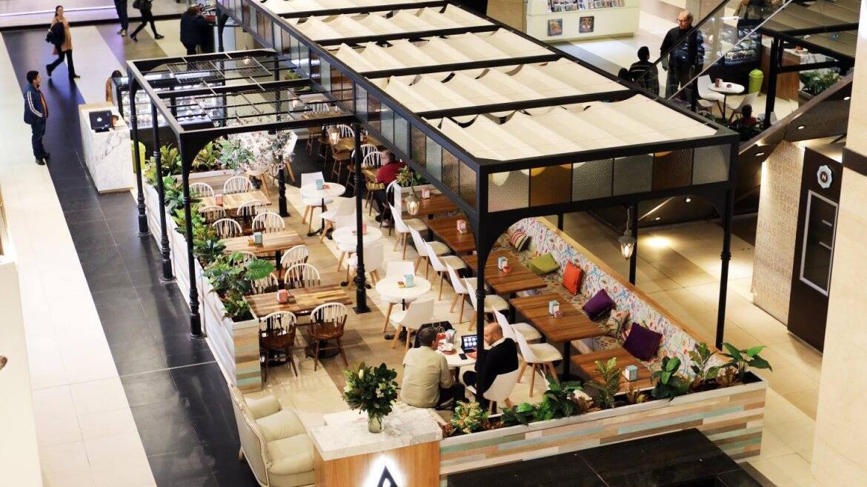 Proyecto Toldo Romano para Alma Café en Abasto Shopping