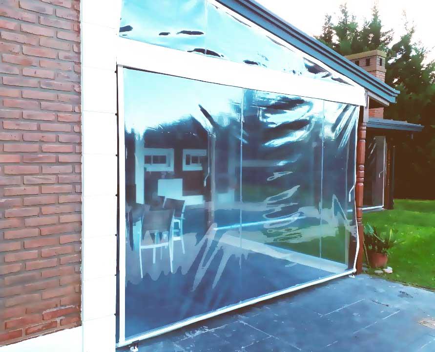 toldo enrollable pvc cristal detalle exterior quincho