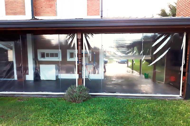 toldo vertical enrollable pvc cristal galeria quincho patio