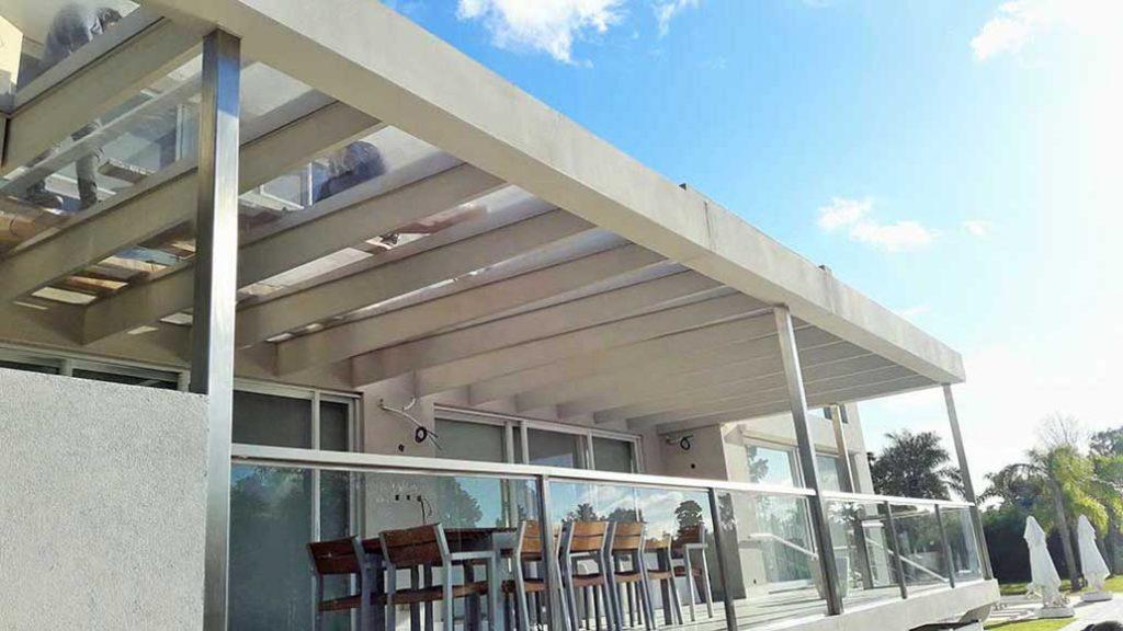 instalacion toldo techo giotto vidrio tigre sunworker microperforada galería