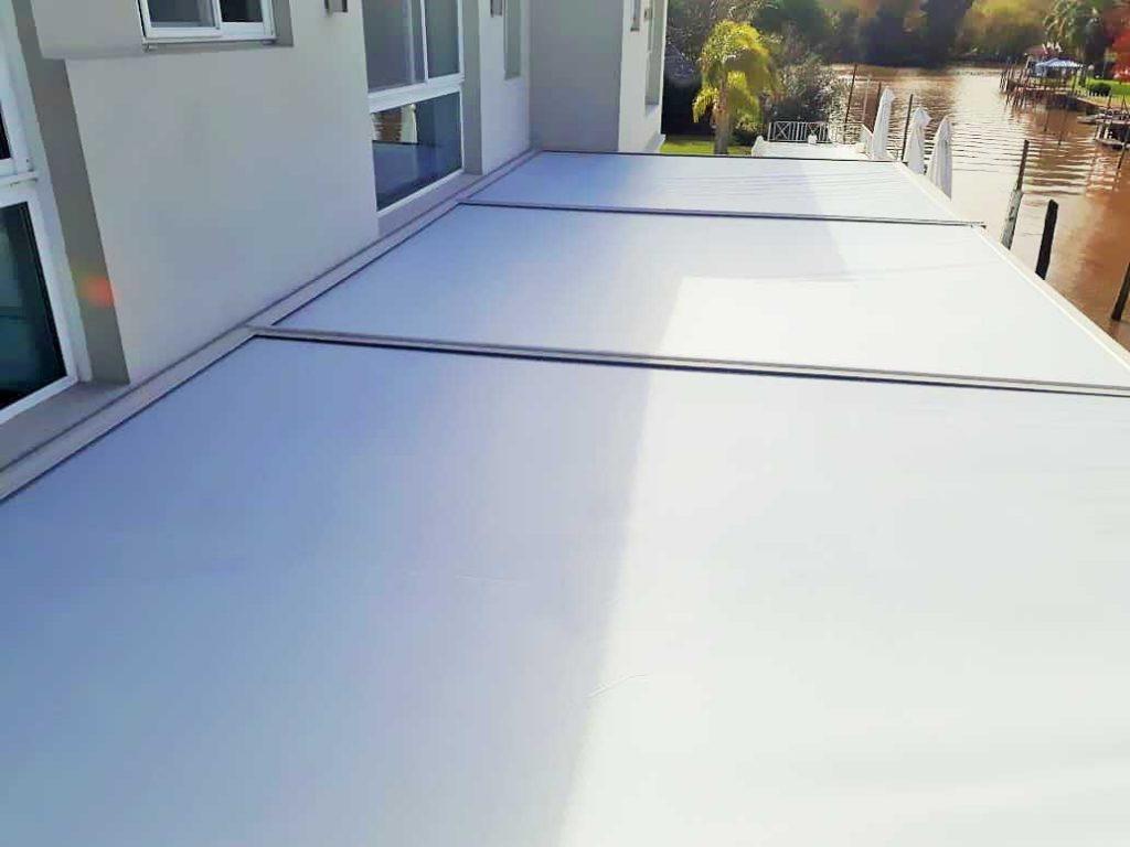 toldo techo cristal galeria cerramiento motor somfy plegable rebatible