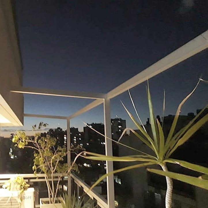 pérgola aluminio toldo balcón