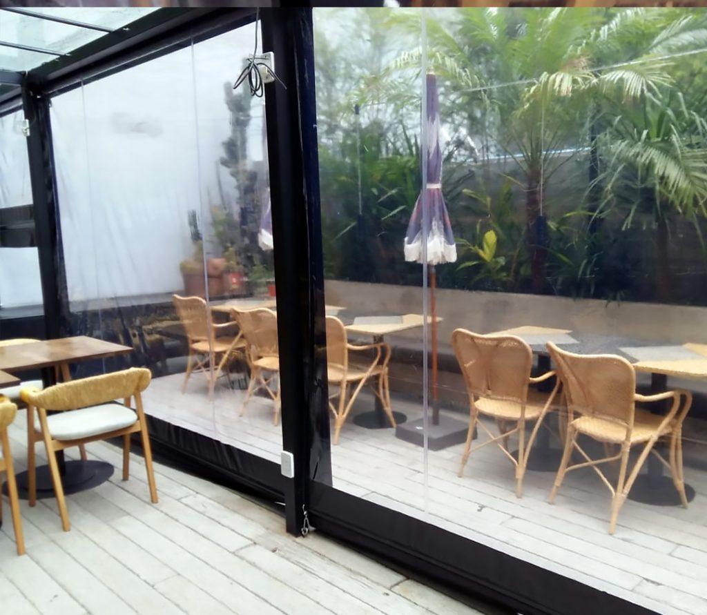 cerramiento resto restaurant toldo trasparente