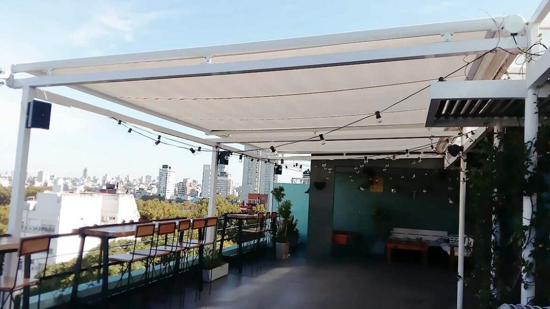 Pérgola aluminio con toldo eléctrico terraza toldo