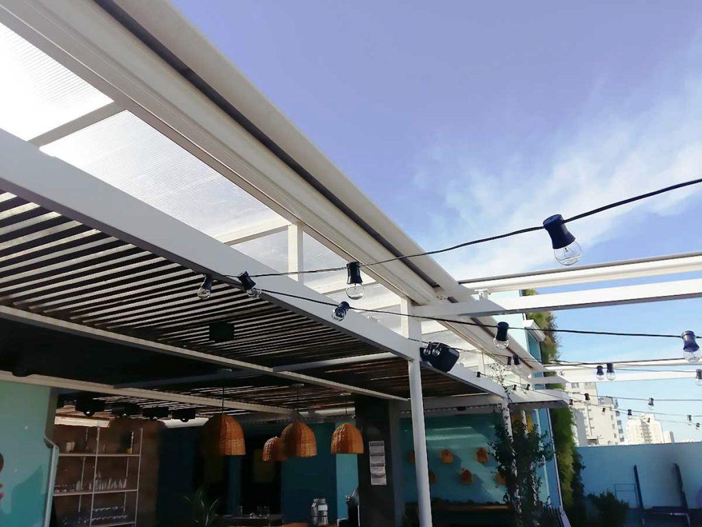 toldo giotto para techo terraza con pérgola