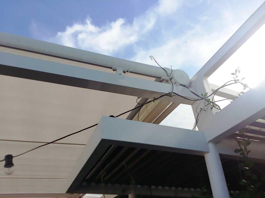 toldo terraza giotto pérgola aluminio detalle