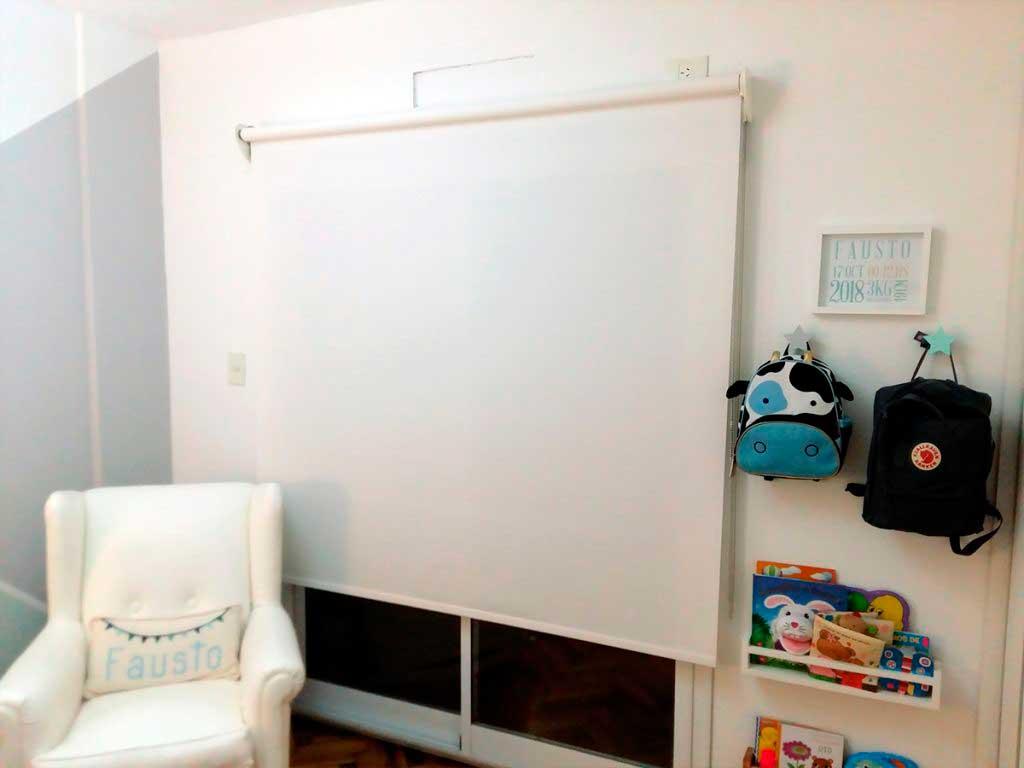 cortina roller doble black out + screen caballito