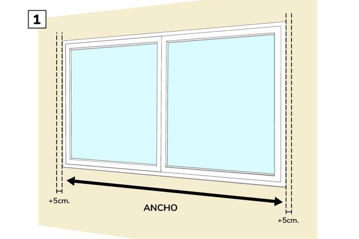 Paso Uno - Medir el ancho de la cortina roller