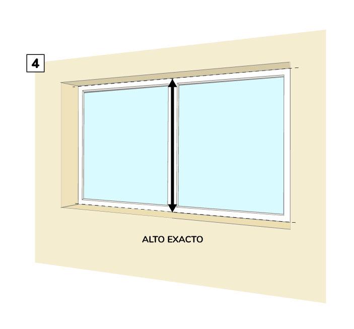 Paso Cuatro - Medir el alto de la cortina roller entre paredes.