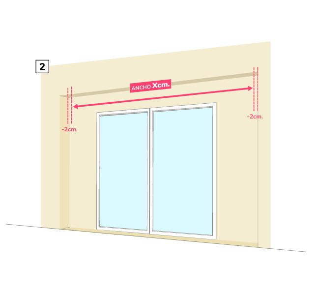 Paso 2 - cómo medir toldo brazos invisibles